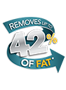 Family 5 Portion Black Grill with Removable Plates - 24330 - Removes 42% of Fat
