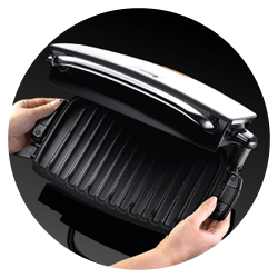 Evolve 5 portion red grill with omelette plates george - Largest george foreman grill with removable plates ...
