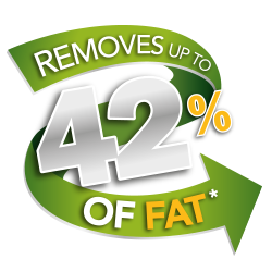 Removes up to 42% of fat*
