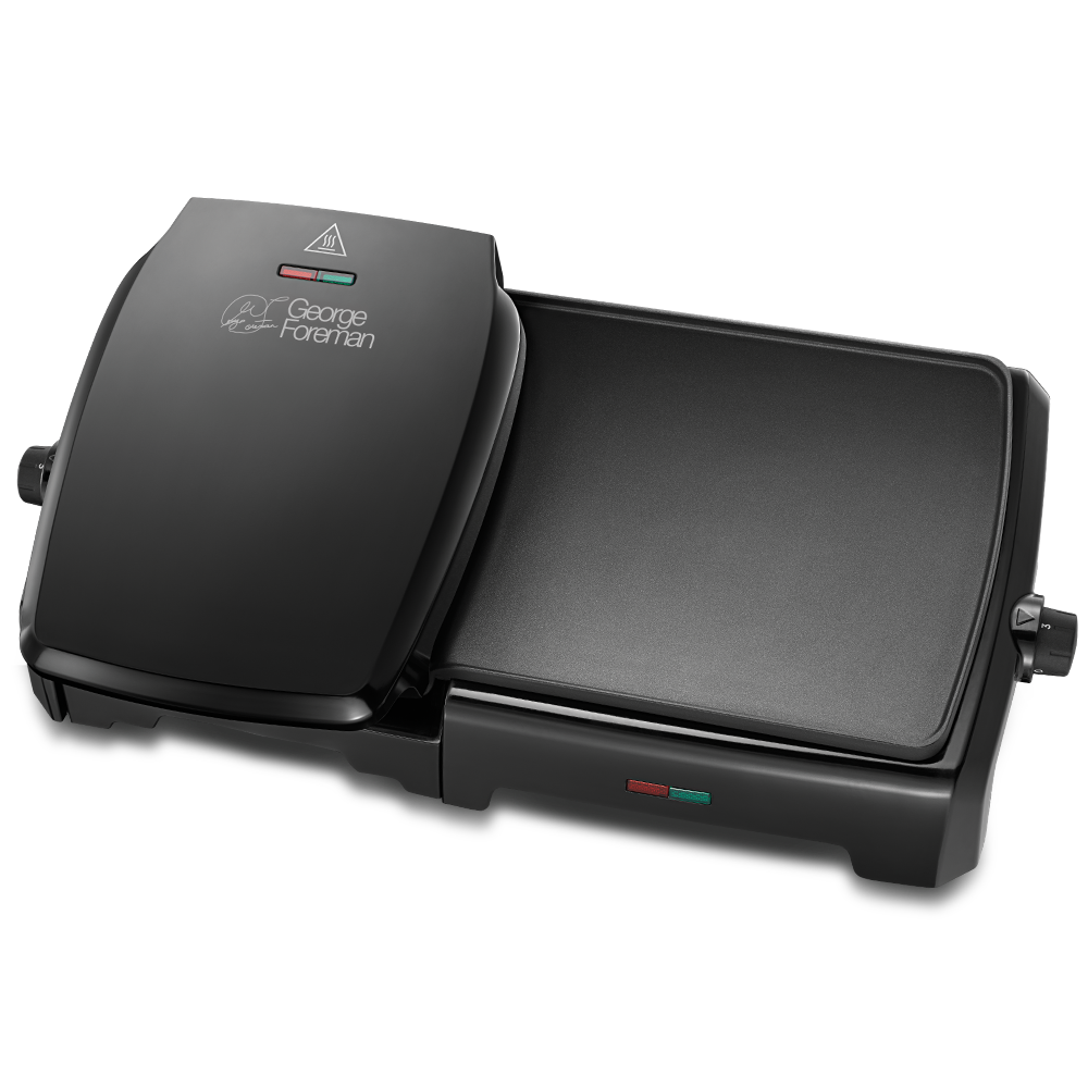 Entertaining 10 Portion Black Grill and Griddle 23450 -