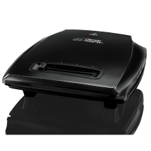 Entertaining 7 Portion Black Grill with Variable Temperature