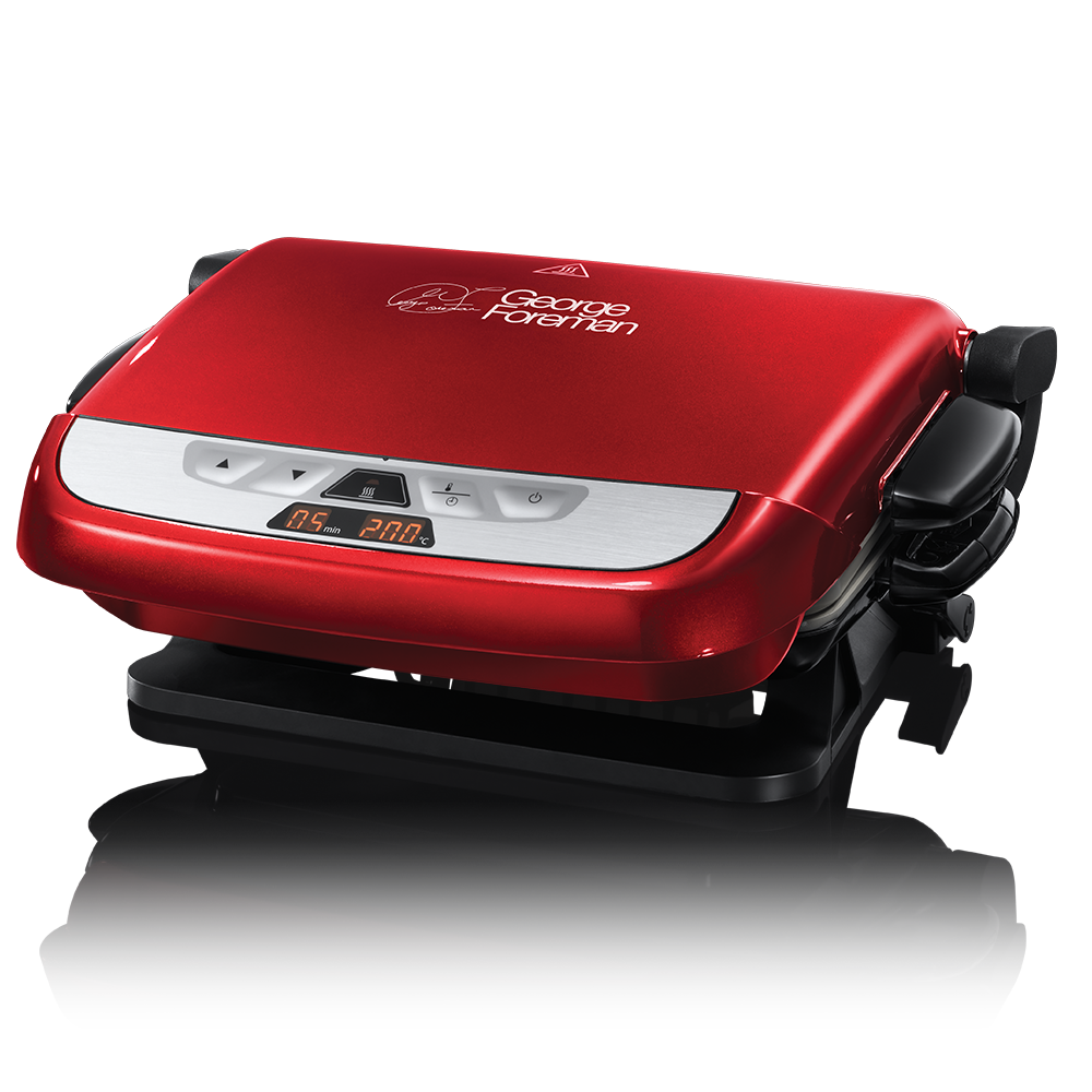Evolve 5 Portion Red Grill with Omelette Plates 21611 -