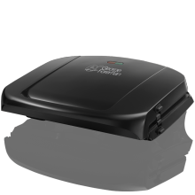 Family 5 Portion Black Grill with Removable Plates