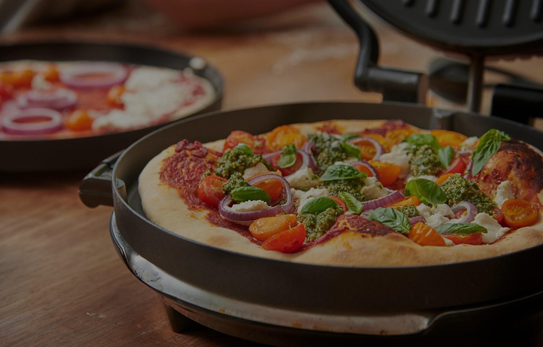 Gluten Free Tomato, Ricotta and Basil Pizza