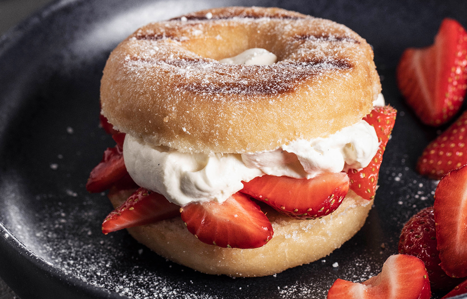 Grilled American doughnuts