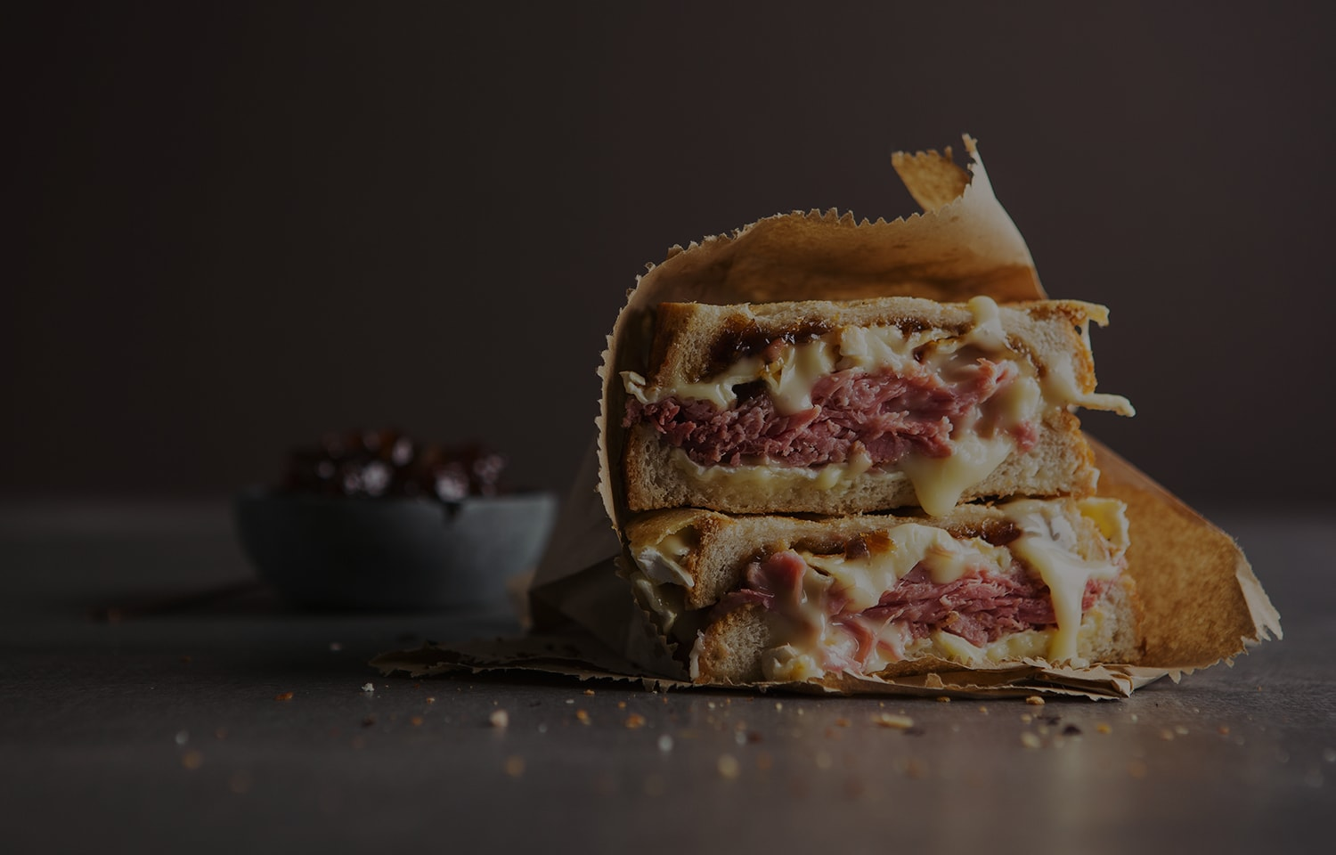 Ham Hock, Cheese and Chutney Toastie