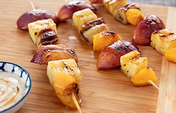 Vanilla Fruit Kebabs