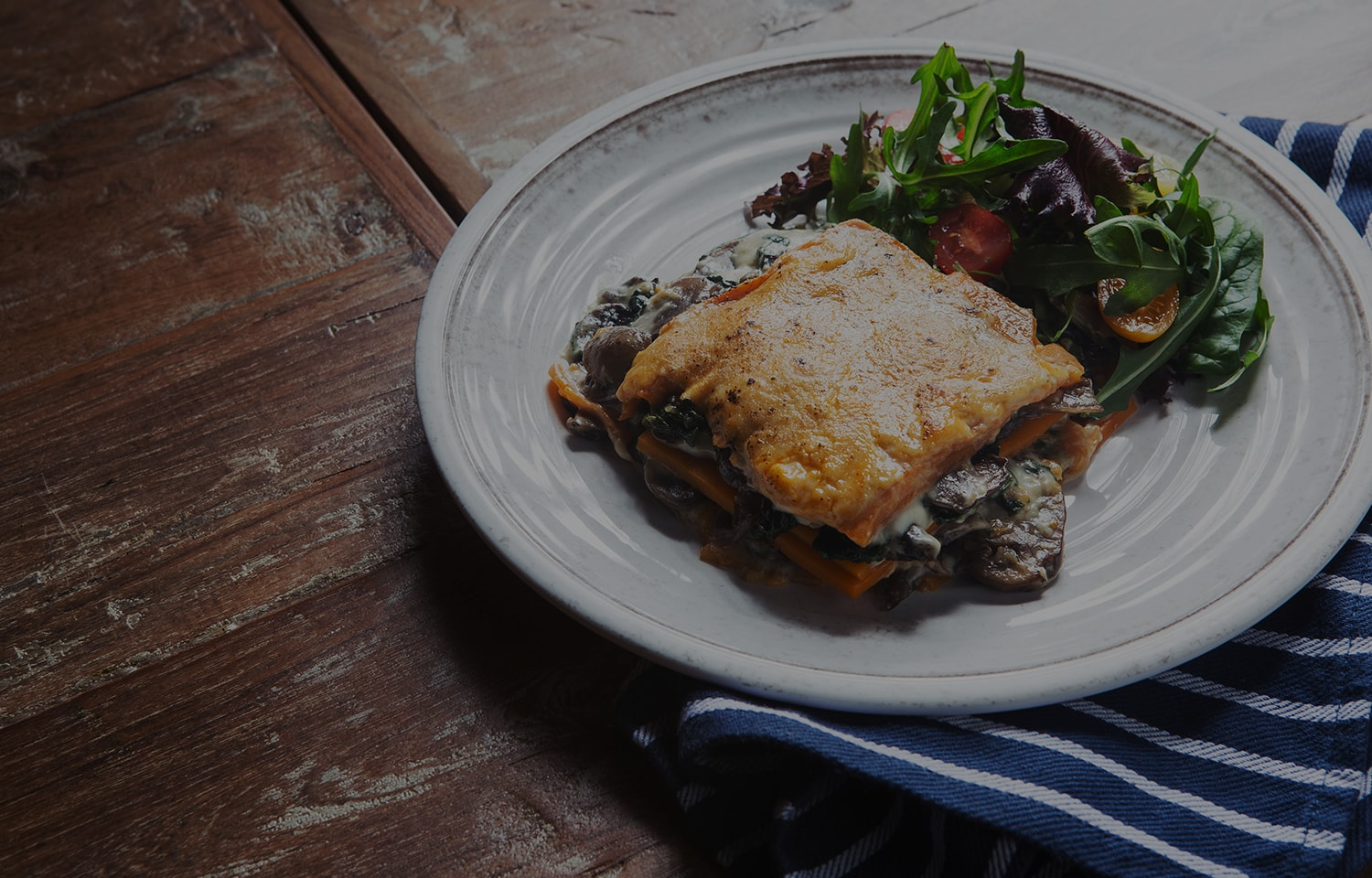 Vegan Spinach and Mushroom Lasagne