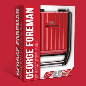 Packshot of Steel Grill - Compact - RED