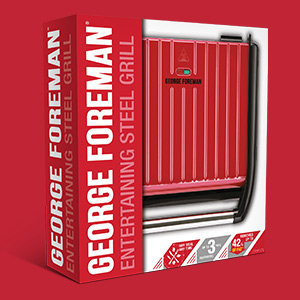 Packshot of Steel Grill Red l Large
