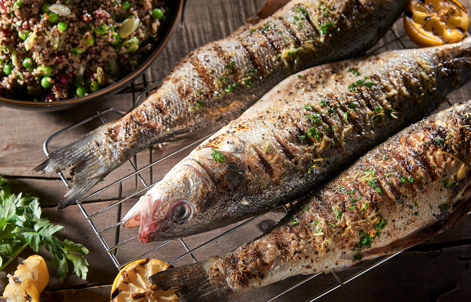 Grilled Whole Seabass