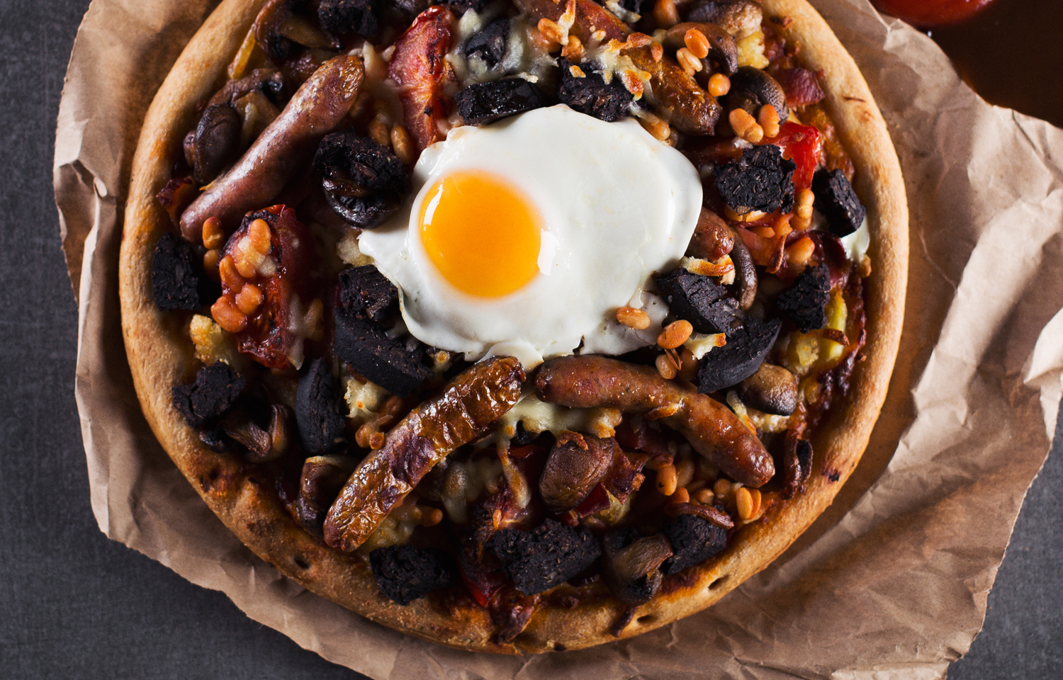 Full English Breakfast Pizza