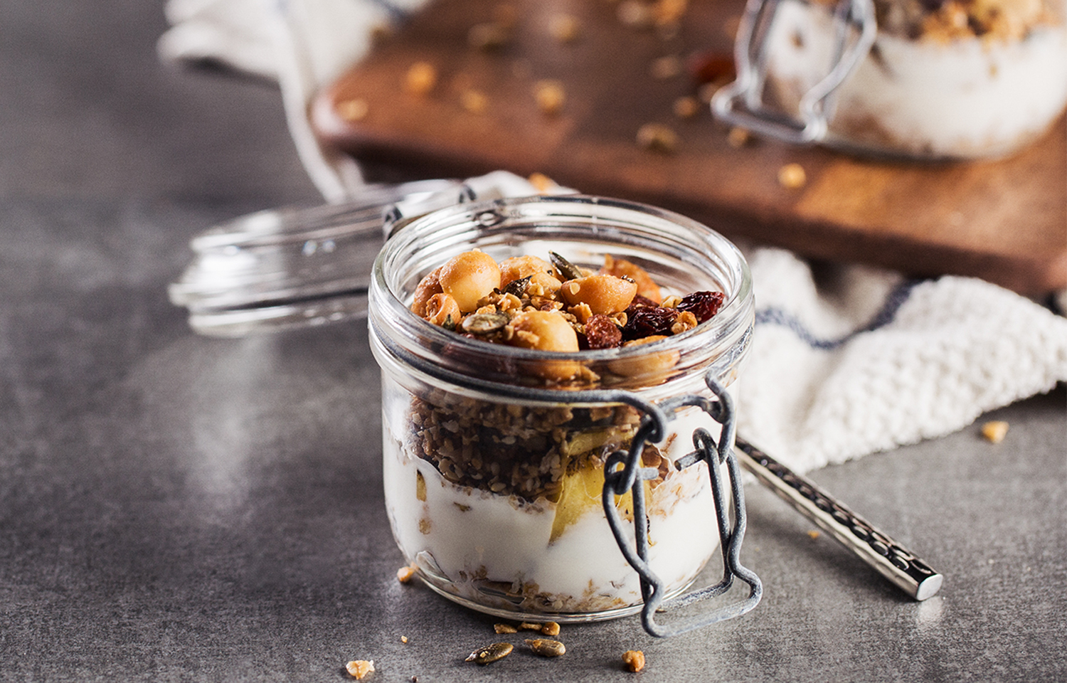 Grilled Pineapple Granola Pot