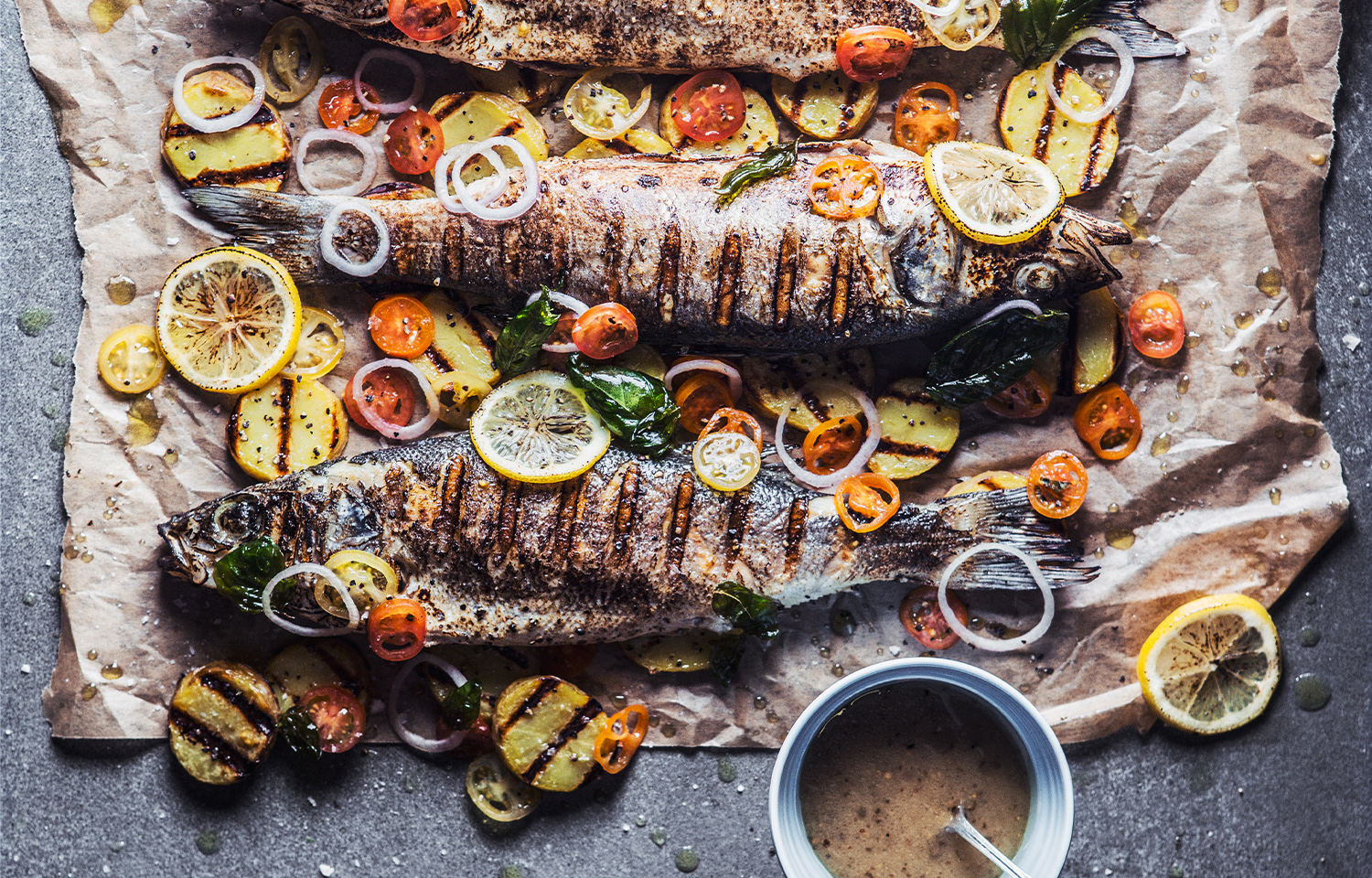 Grilled Sea Bream with Rosemary Potatoes