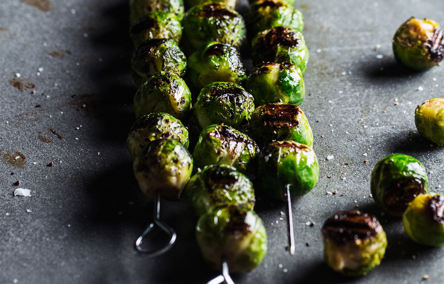 Grilled Brussels Sprout Skewers