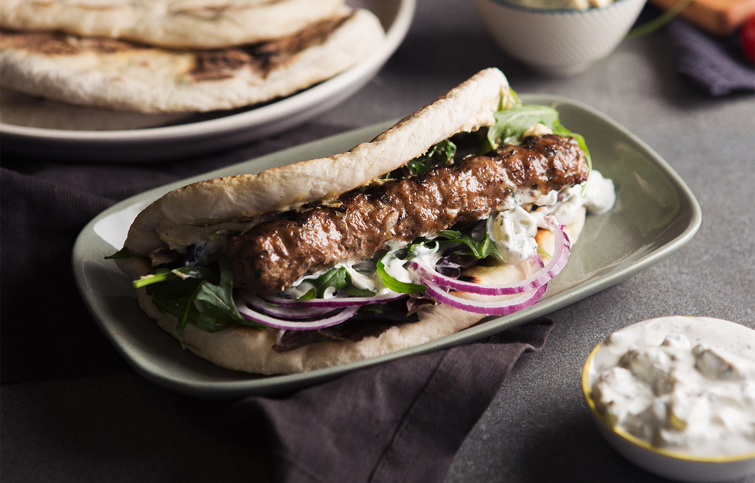Lamb Koftas with Flat Bread