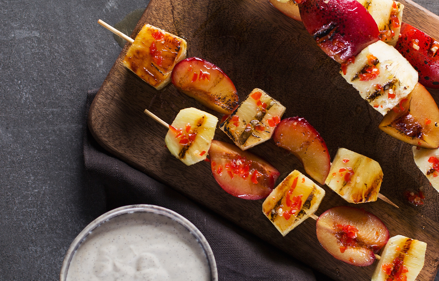 Pineapple and Chilli Kebabs