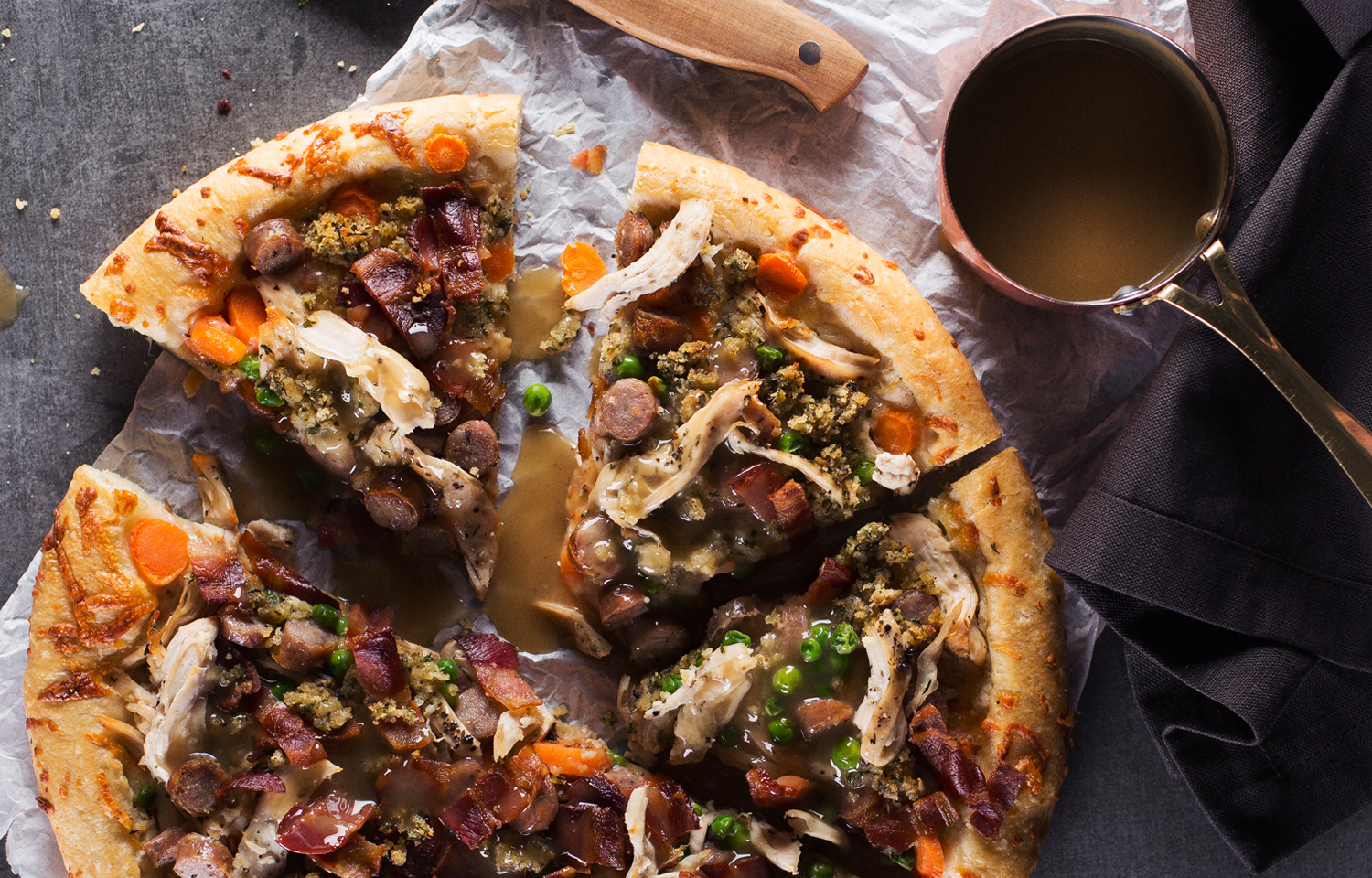 Roast Chicken Dinner Pizza