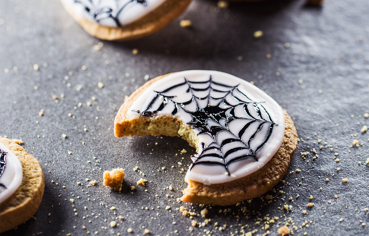 Spider Web Biscuits