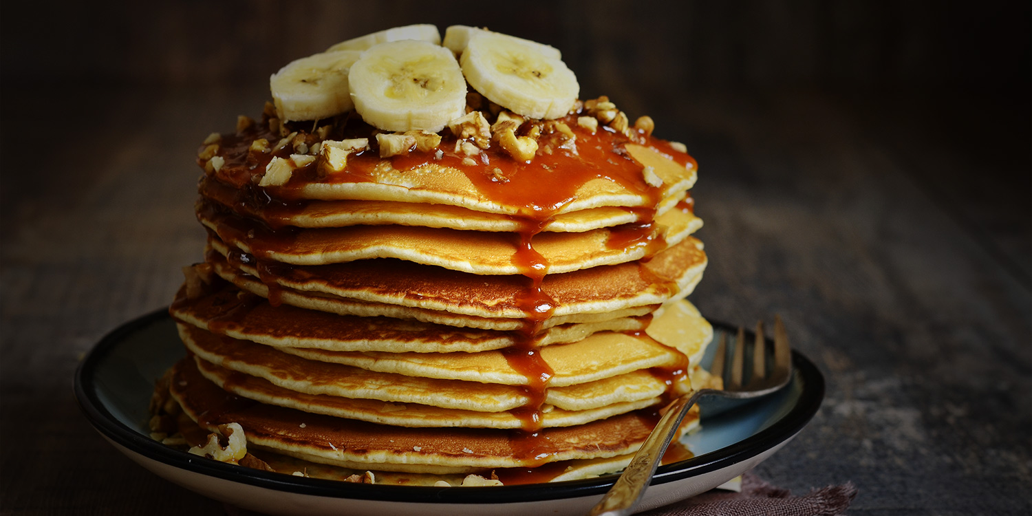 Banana and Fudge Pancakes